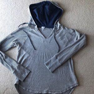 Splendid cotton knit striped hoodie size M
